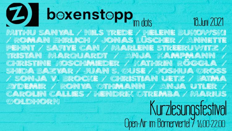 Boxenstopp - Kurzlesungsfestival