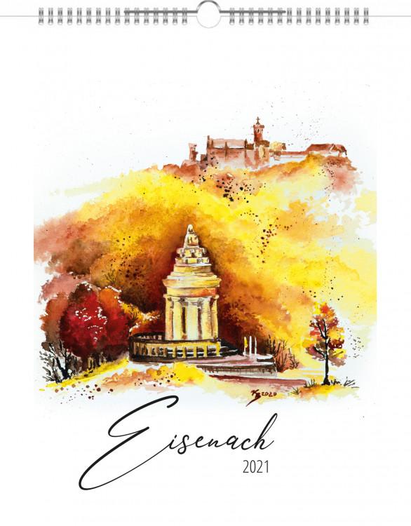 Jahreskalender mit Eisenach-Aquarellen