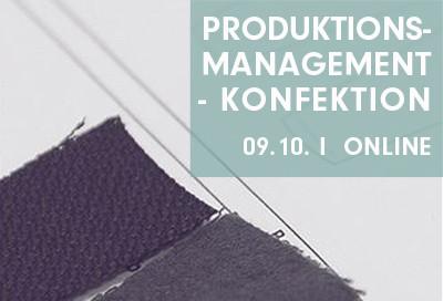 ONLINE-WORKSHOP Produktionsmanagement - Konfektion