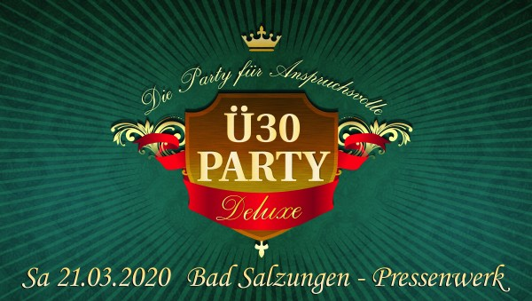 Ü30 Party Deluxe Bad Salzungen 2020