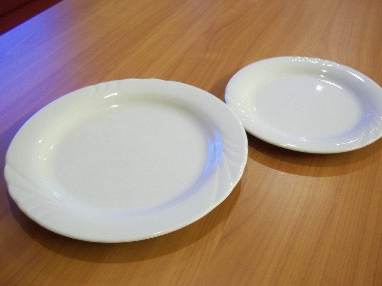 Speißeteller uni-weiß groß
