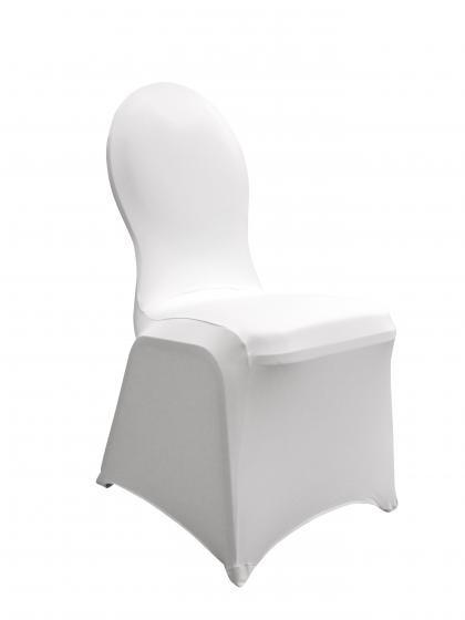 Stretchhusse Stuhl weiß