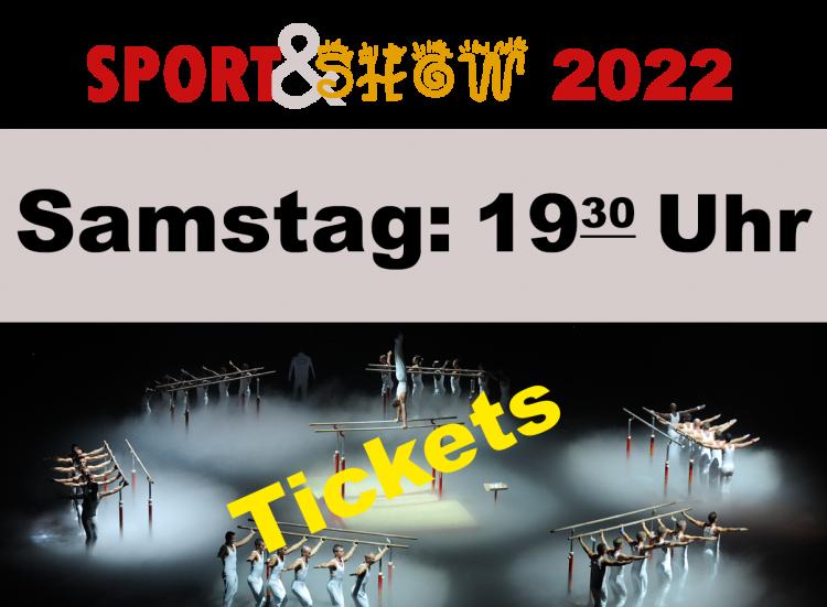 3. Sport und Show Samstag 15.01.2022 19:30 Uhr